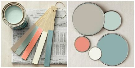 Design Idiom: Paint! Paint! Paint!  Coral and greens.
