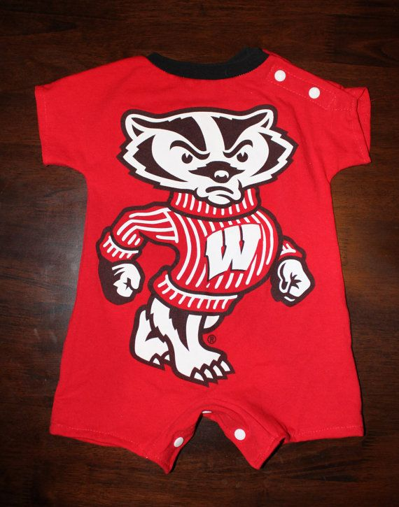 Baby Romper from Wisconsin Badgers TShirt by ohlavache on Etsy, $20.00