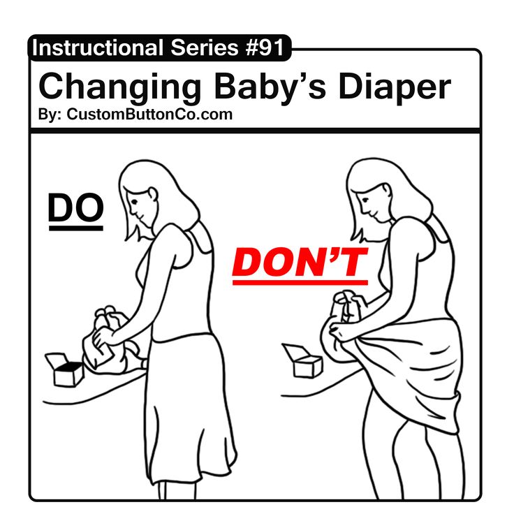 Don't wipe the babies arse with your dress. Not cool and