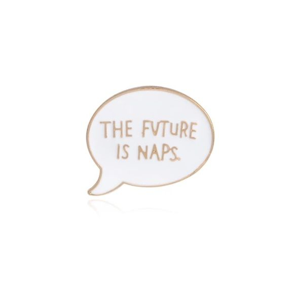 The Future Is Naps Enamel Pin Gift Cute Lazy