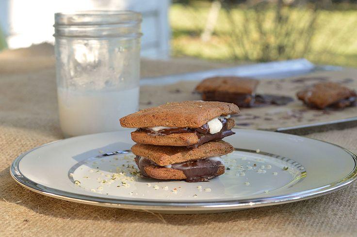 Vegan S'mores auf Hausgemachte Graham Crackers
