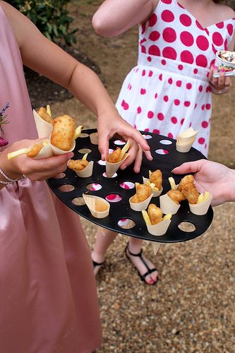 French fries for your wedding reception are great for a fun snack in the afternoon and also work instead of an evening buffet. More ways to save money on your wedding reception food http://www.cheap-wedding-solutions.com/wedding-reception-foods-ideas.html
