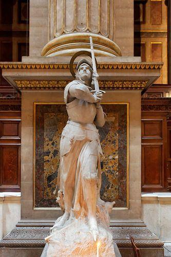 Jeanne d'Arc. Eglise de la Madeleine. Paris 8ème