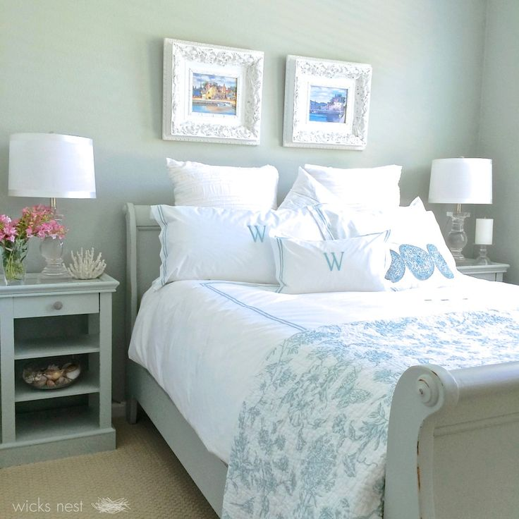 Restoration hardware silver sage gray green blue color - Blue green paint colors for bedroom ...