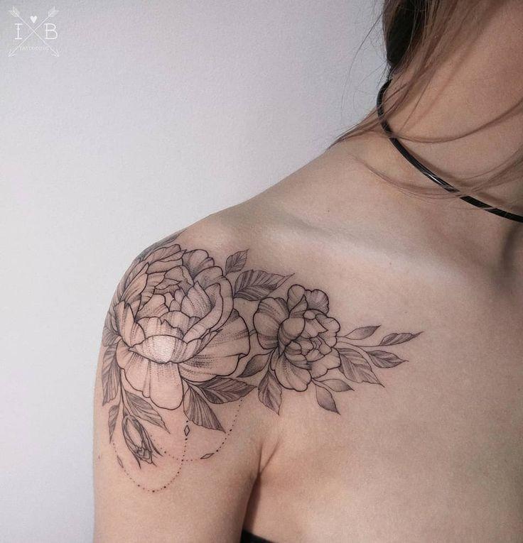 Shoulder Rose Tattoo by Irene Bogachuk @irenebogachuk #IB_TATTOOING #shouldertattoo #tattoo #ink #inked