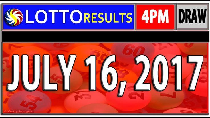 PCSO 4PM LOTTO RESULTS l JULY 16, 2017 (SWERTRES & EZ2 LOTTO)