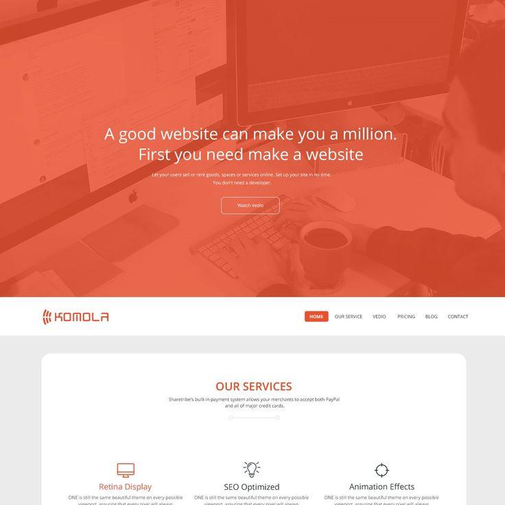 Komola  Free HTML5 Website Template Freebies Bootstrap CSS CSS3 Free HTML HTML5 Javascript jQuery Layout Parallax Resource Responsive Retina Single Page Template Web Design Web Development