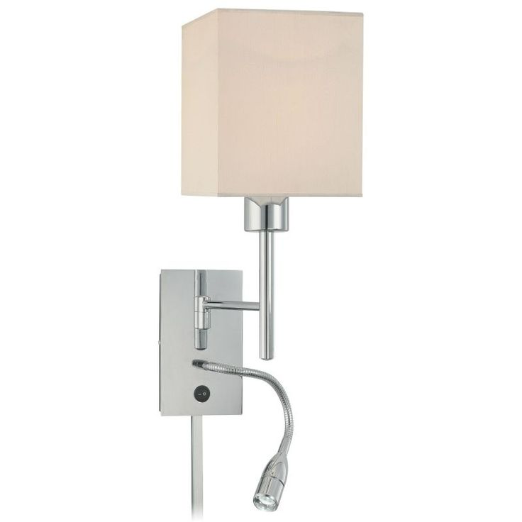 Wall Reading Lights Plug In : 17+ best ideas about Plug In Wall Sconce on Pinterest Plug in chandelier, Repair indoor walls ...