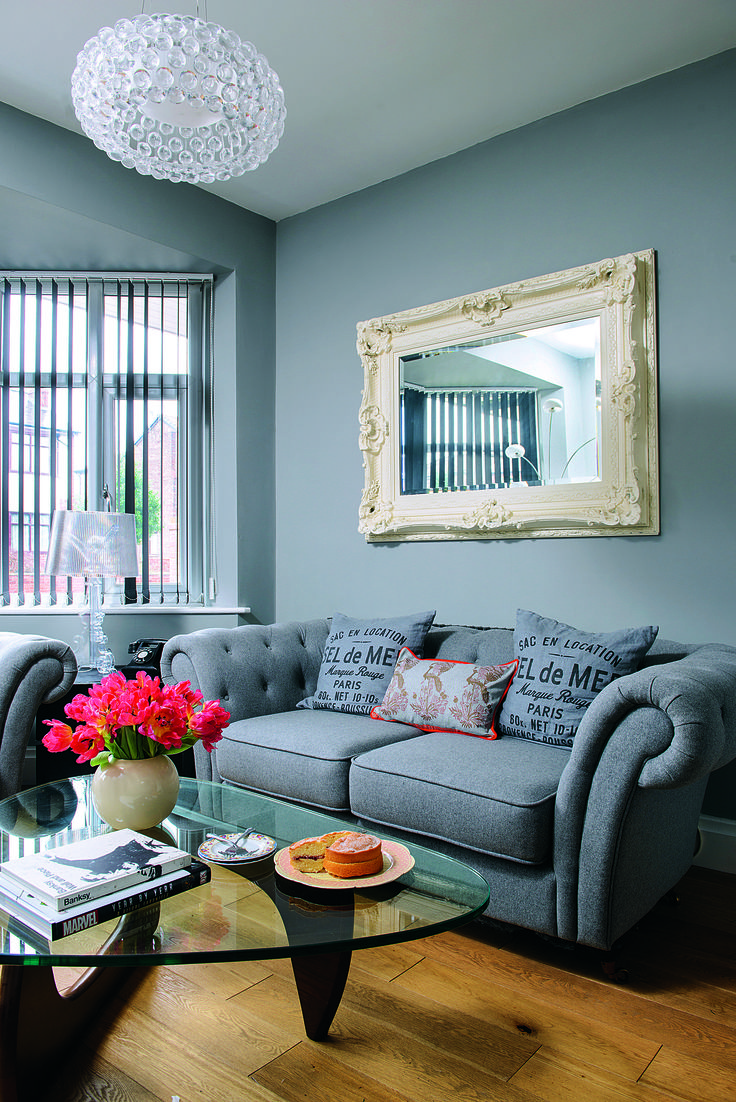 Hang A Statement Mirror Above Your Sofa To Make The Space Feel Larger. As  Seen
