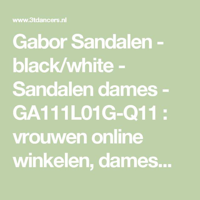 Gabor Sandalen - black/white - Sandalen dames - GA111L01G-Q11 : vrouwen online winkelen, damesmode schoenen