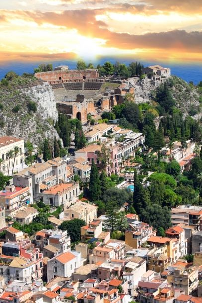 Taormina, Italy - Such a beautiful little town in Sicily and one of our favourite ports. With Ancient Greco-Roman influences as well as a unique cafe culture.