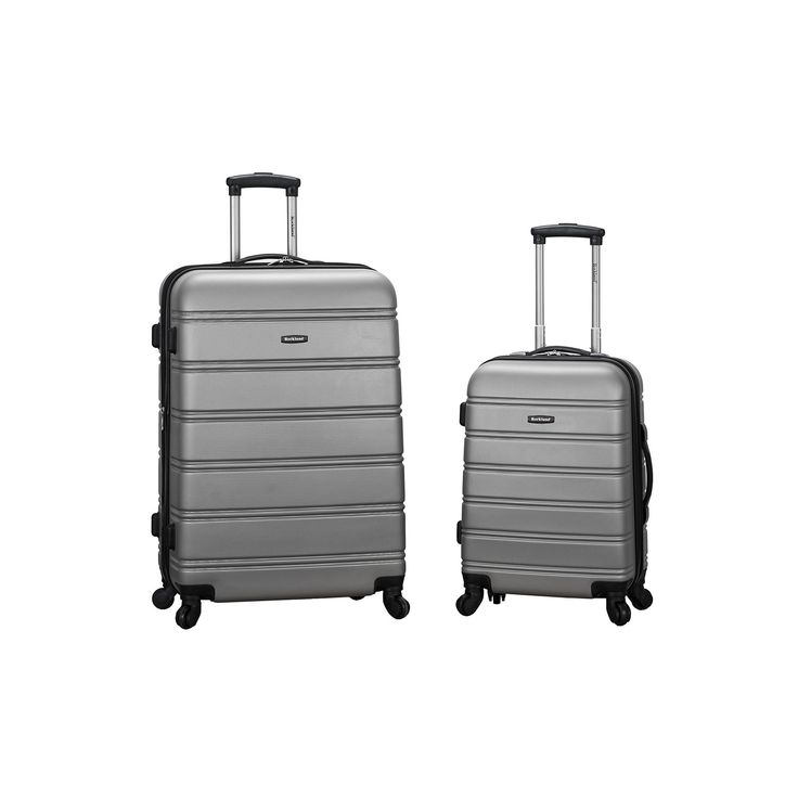 Rockland 2-Piece Hardside Spinner Luggage Set, Silver