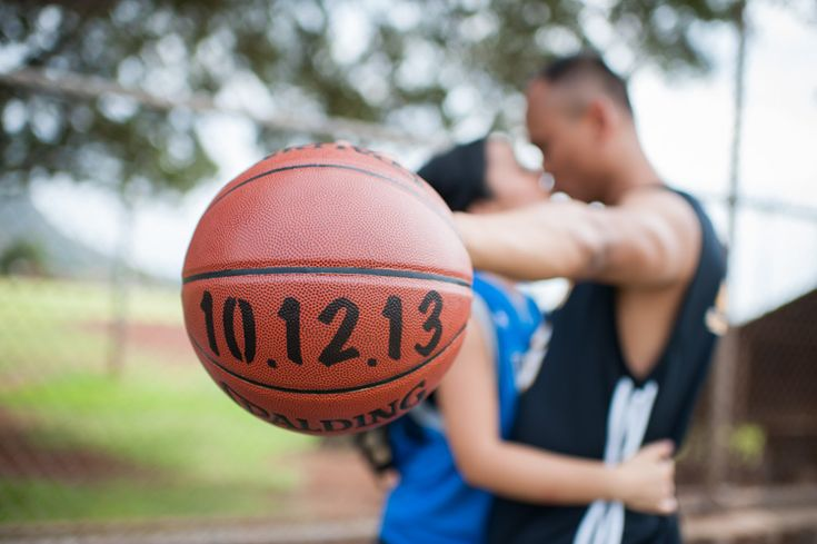 basketball engagement photo