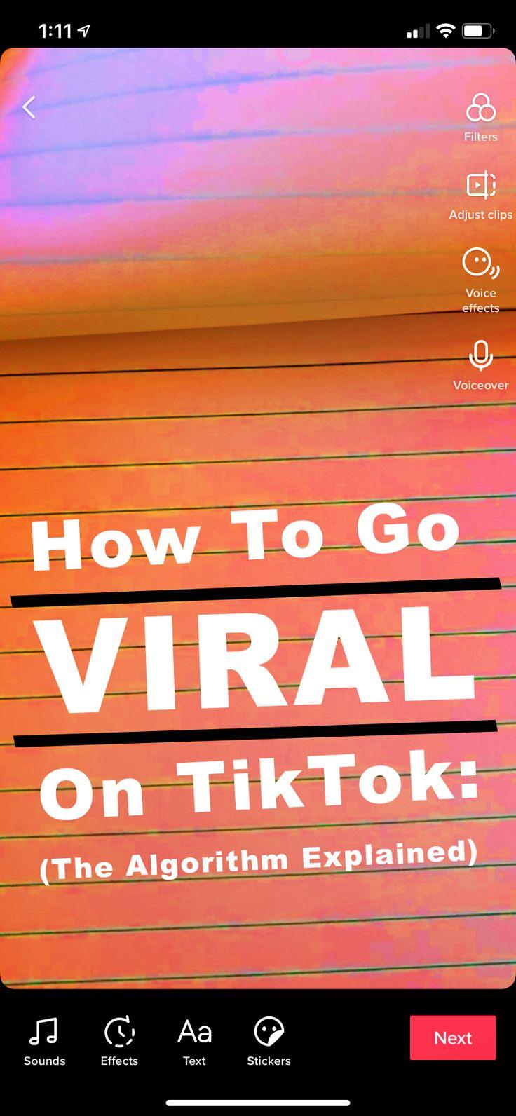 How to go viral on tiktok the algorithm explained