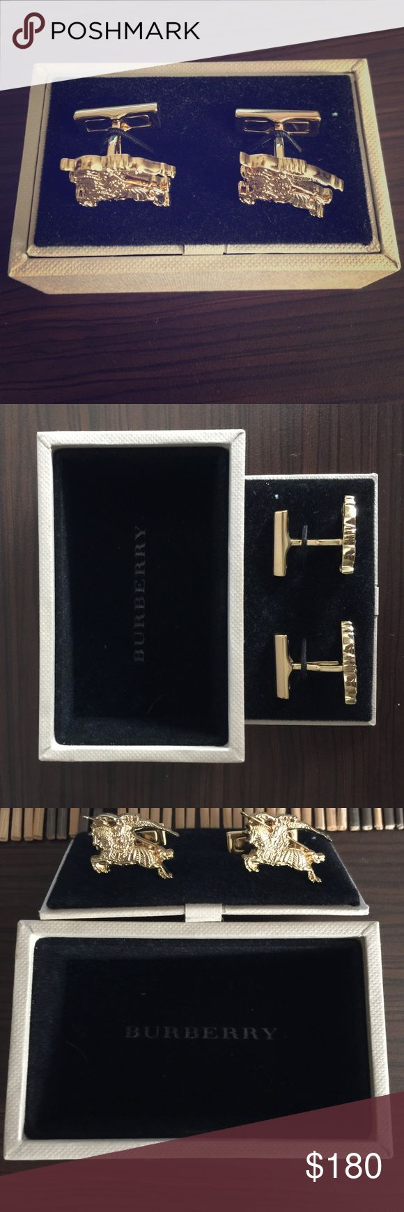 Gold Burberry Men's Equestrian Knight Cuff Links Brand new Burberry cufflinks. One owner. Worn once. Burberry Accessories Cuff Links