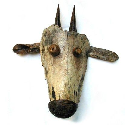 Mook goat trophy; 40 x 40cm