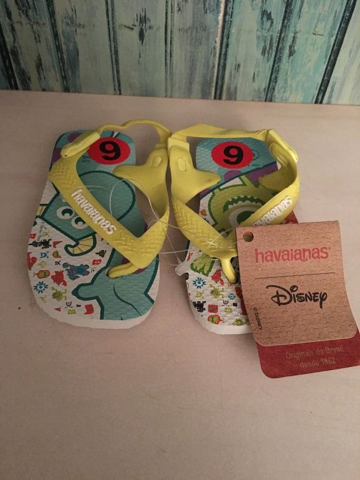 New Havaianas Kids Monsters Disney Flip Flop Sz 6c  | eBay