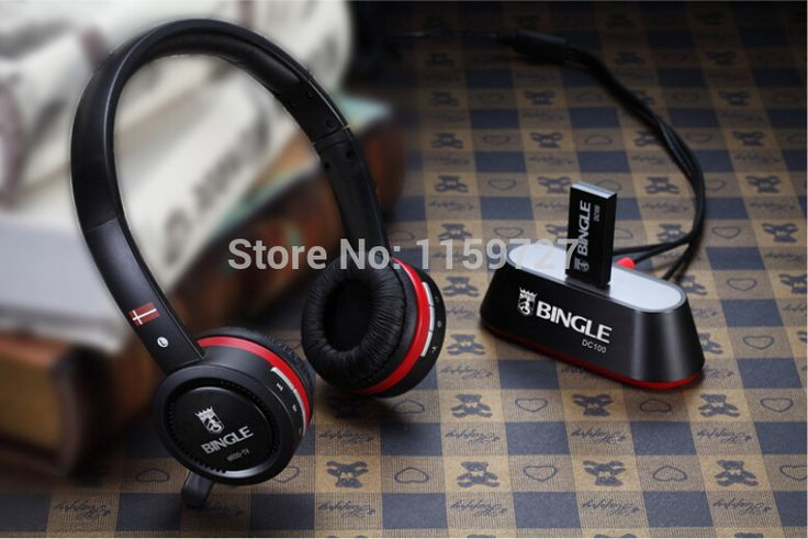Bingle N600-TV Rechargeable Multifunction 2.4G Wireless Headset TV Headphones with Microphone for TV PC Pad Phones MP3