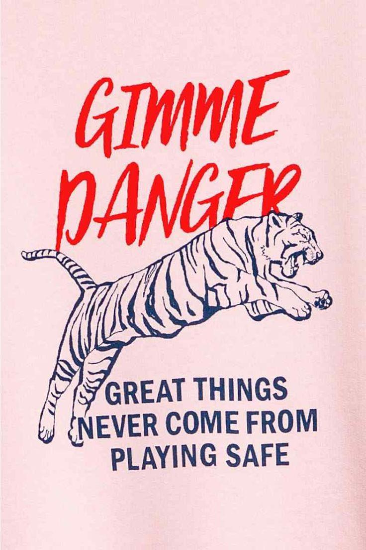 Printed T-shirt dress - Light pink/Tiger - Ladies | H&M GB