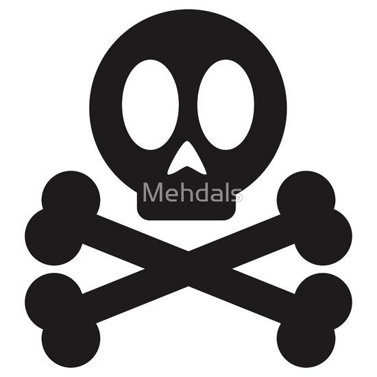 Poison skull and cross bones sticker by mehdals