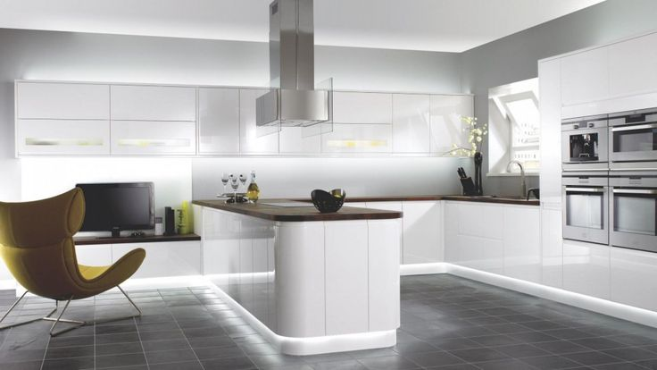 Kitchen : High Class Kitchen Interior Also White Kitchen Counter With White Kitchen Island With Under Lighting And Kitchen Furniture Besides Kitchen Decoration And Furniture Cheerful Kitchen Kitchen In Color Themes Kitchen Inspirations Find Inspiration Kitchen Design Part 5 Kitchen Island. Countertop. Stainless Steel Dining Chairs.
