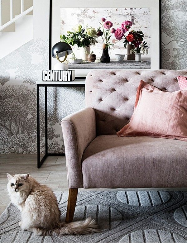 Pink Sofa Living Room