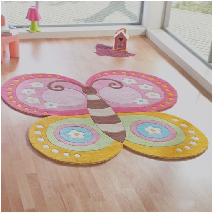 Inspirierende Teppich Kinderzimmer Schmetterling, Teppich ...