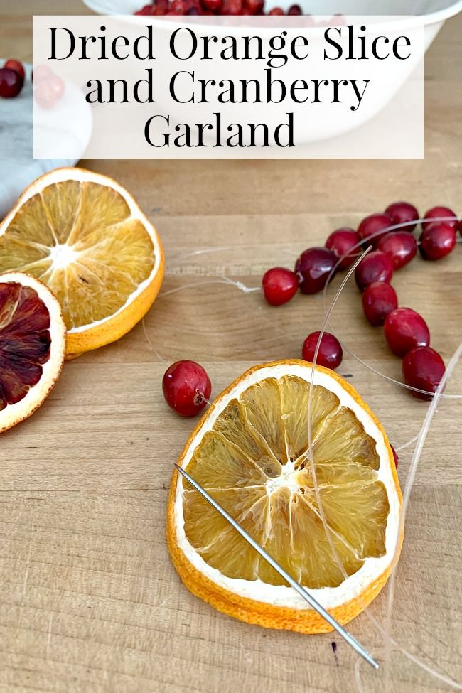 A DIY Christmas Garland Made with Dried Orange Slices and