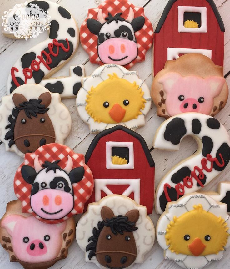 """229 Likes, 7 Comments - Anna Parnell (@cookieoccasions_) on Instagram: """"It was about time I got a barnyard theme #sugarcookies #customcookies #decoratedcookies…"""""""