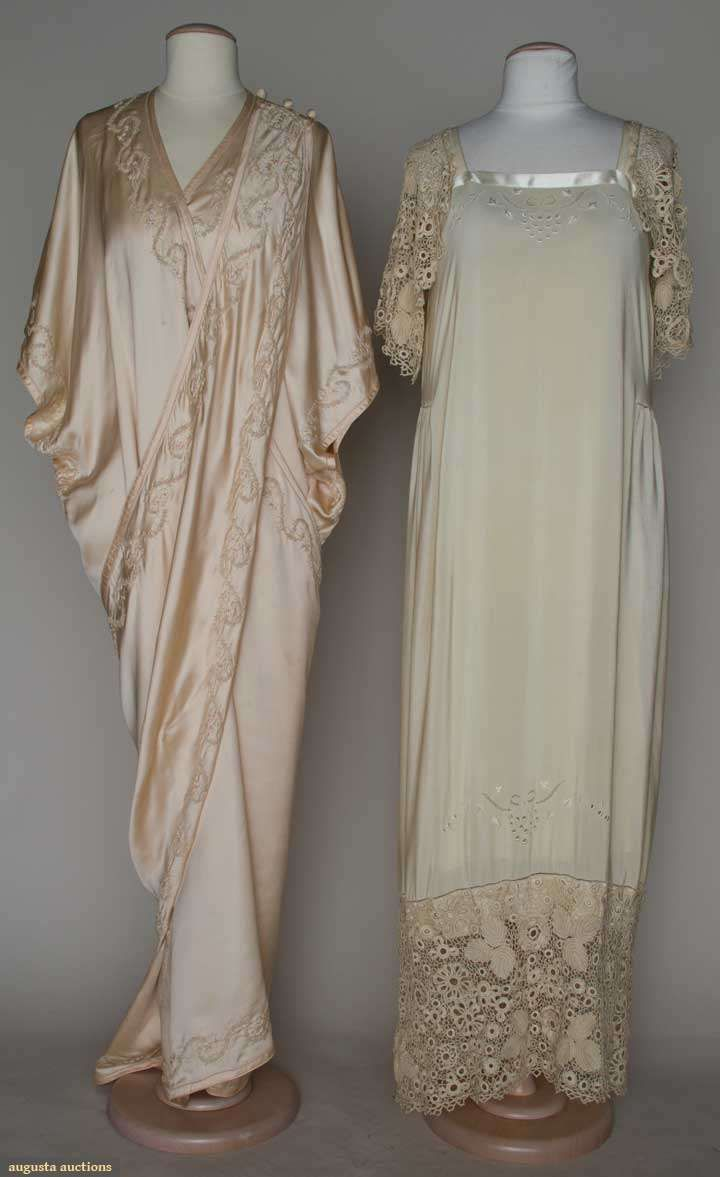 Augusta Auctions: two pieces silk lingerie, c. 1910 - oh, what I'd give to own and wear lingerie like this. I'd feel like Lady Mary!