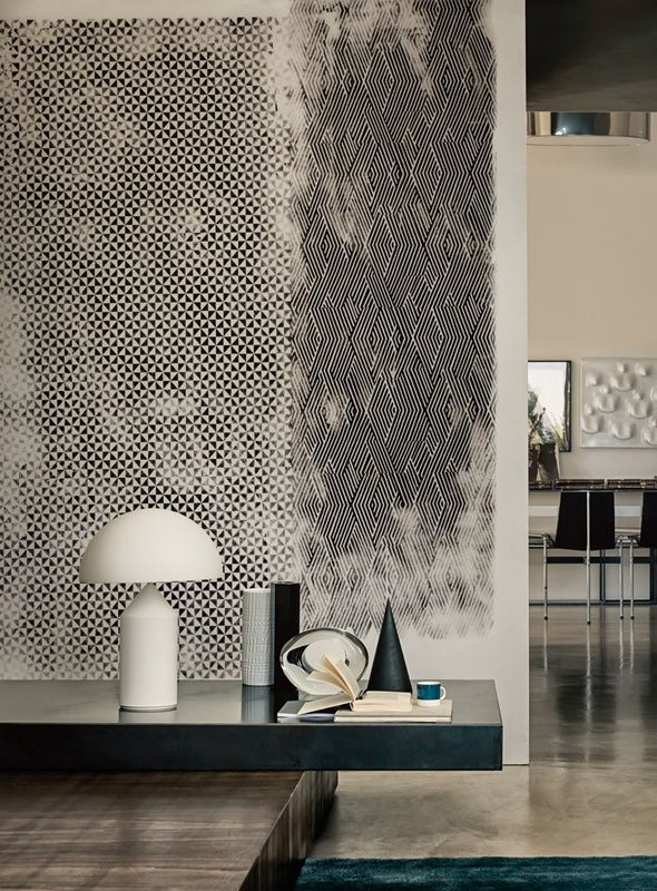 Wall deco vibrante design wallpaper