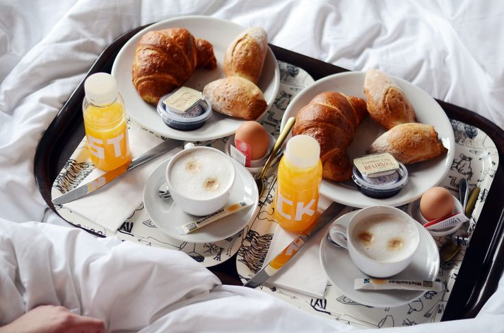 Told my mom this is all I want for my birthday. Fancy breakfast in bed with coffee and orange juice on a cute little tray.