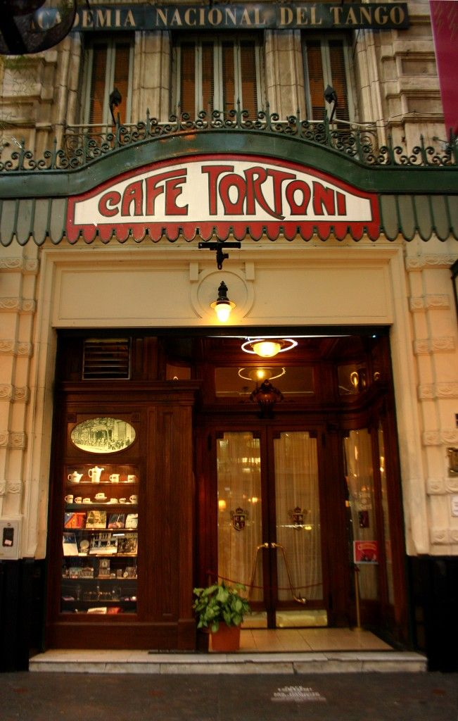 Cafe Tortoni - Buenos Aires. Historically one of the first cafes in the city.