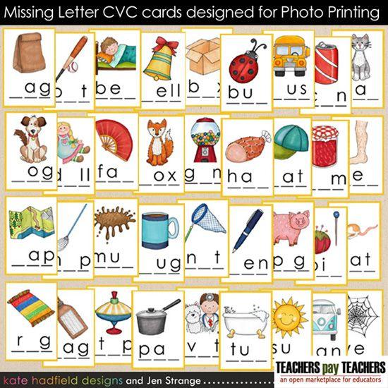 25 Best 3 Letter Blends/Cvc Activities Images On Pinterest