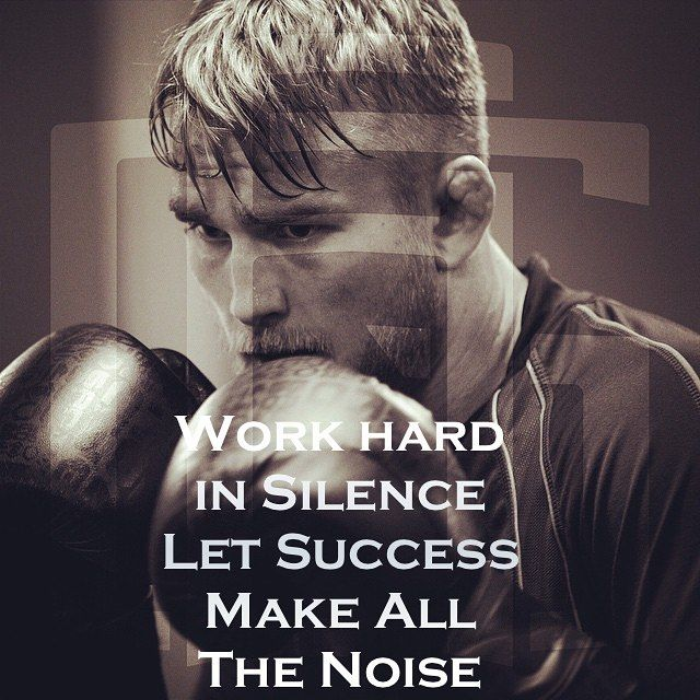 MOTIVATIONAL POSTER with Swedish fighter Alexander Gustaffson : if ...