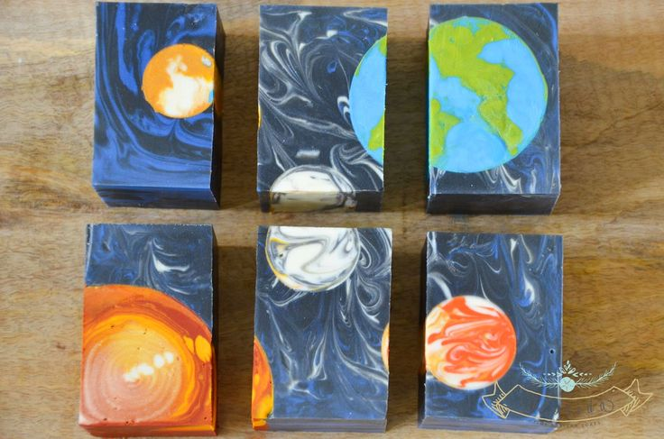 Space soaps that are absolutely gorgeous. Lots of talent went into making these little gems!