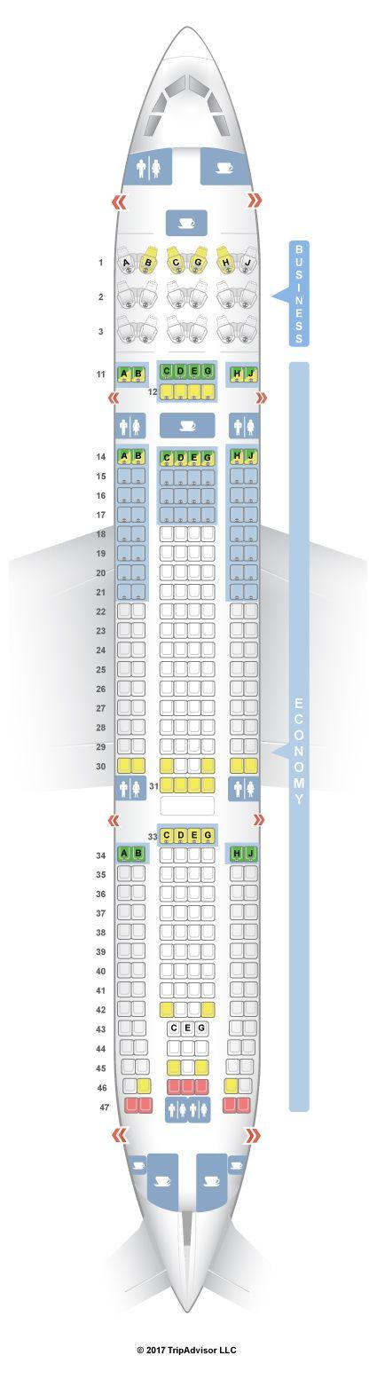 SeatGuru Seat Map Hawaiian Airlines Airbus A330-200 (332) V2 - SeatGuru