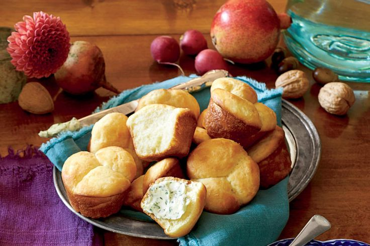 Easy Butter Rolls - November 2015 Recipes - Southernliving. Recipe: Easy Butter Rolls  Make Ahead: After Step 2, shape the dough into 1-inch balls and place them on a baking sheet. Place baking sheet in freezer, and freeze completely. Transfer frozen balls to a large zip-top plastic bag. The day before baking, place three dough balls in each cup of a lightly greased muffin pan, cover with plastic wrap, and chill until ready to bake as directed. Serve with Herb Butter and Sorghum Butter.