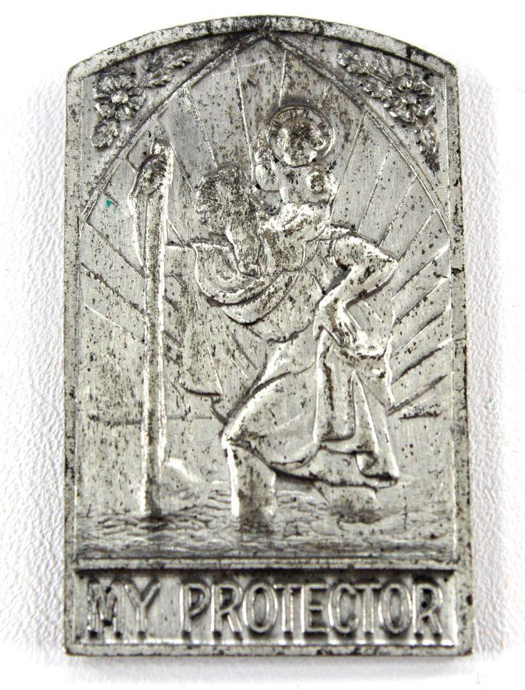 St Christopher & O.L. of Perpetual Help Pocket Shrine Vintage Catholic Medal 22092 by JacksonsMarket on Etsy