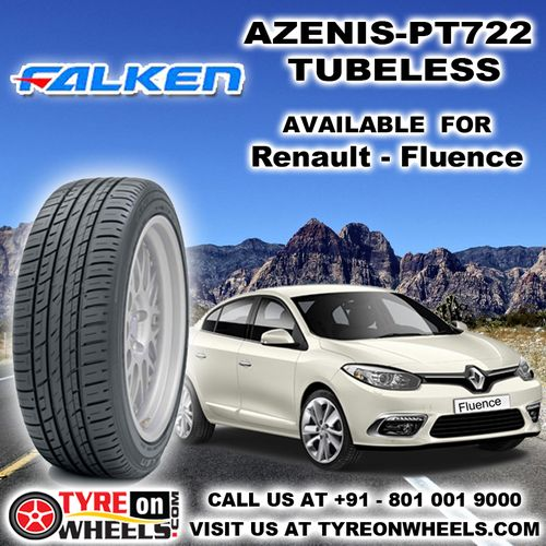 Buy Renault Fluence Tyres Online of Falken Azenis PT 722 Tubeless Tyres Size 205/60R 16 and get fitted with Mobile Tyre Fitting Vans at your doorstep at Guaranteed Low Prices buy now at http://www.tyreonwheels.com/tyres/Falken/AZENIS-PT722/1280
