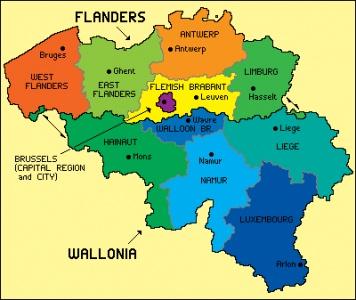 A recent map of #Belgium