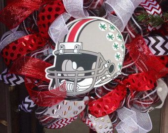 All new ohio state buckeyes deco mesh wreath