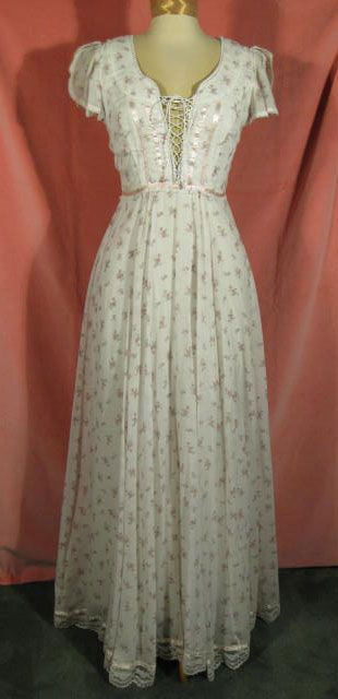 1970s Gunne Sax Dress Boho Maxi at Robin Clayton Vintage