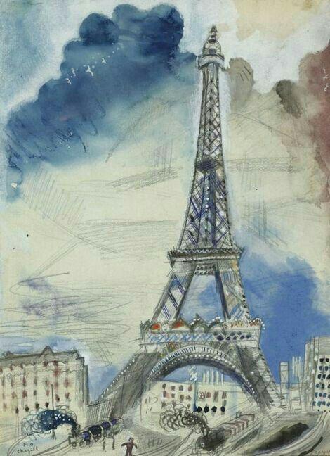 'Tour Eiffel' - Marc Chagall - (1910)                                                                                                                                                                                 Más
