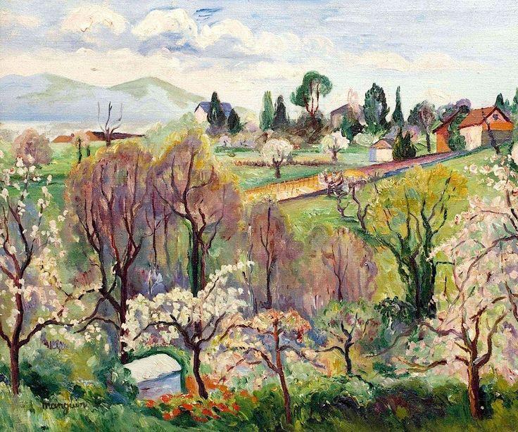 Henri Manguin(1874ー1949)「Swiss Landscape in Spring」