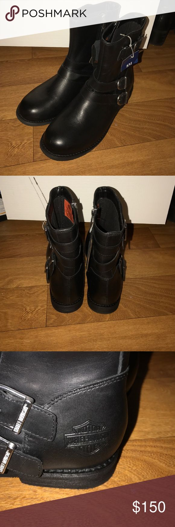 Women's Harley Davidson Boots Brand new. Never worn. Reasonable offers will be accepted Harley-Davidson Shoes Combat & Moto Boots