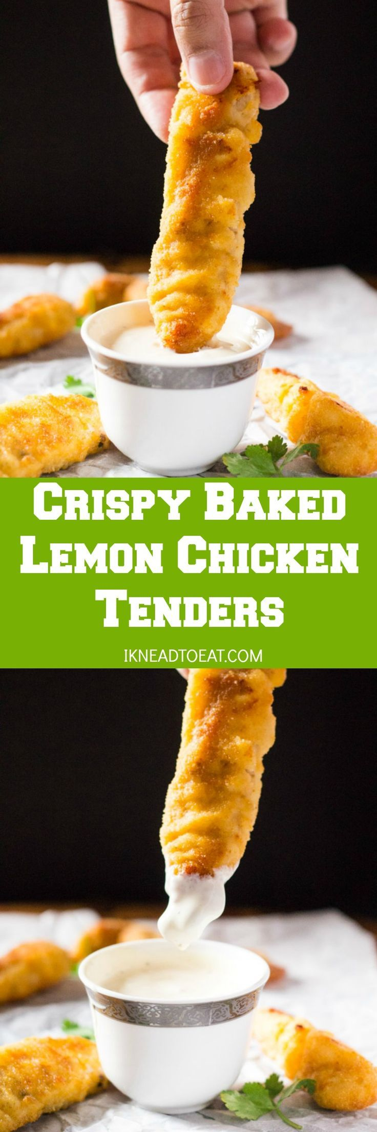 These Crispy Baked Lemon Chicken Tenders are truly crispy and so easy to make. These tenders are marinated in lemon and oregano, and then breaded and baked. Delicious and perfect for both kids and adults!