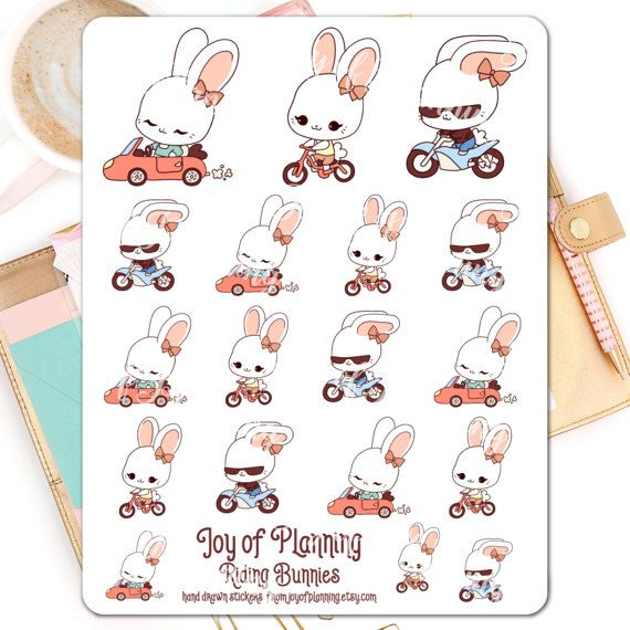 Vehicles planner stickers planning car stickers by JoyofPlanning