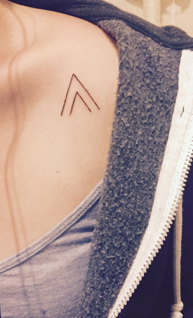 Keep moving forward. Onwards and upwards.  Minimalist clean chevron tattoo