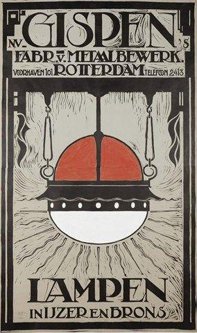 Gispen affiche, foto: W. Hanenberg